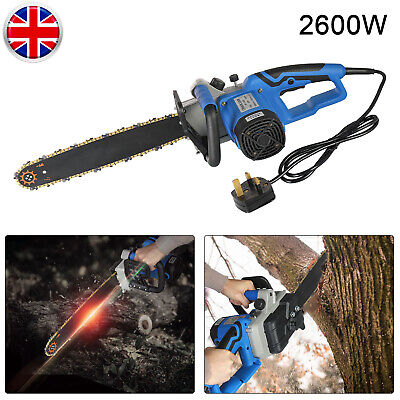 2600W 220V 16 INCH Electric Cordless Chainsaw Chain Saw Garden Cutting Tools UK • 74.79£