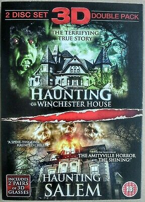 Haunting Of Winchester House / A Haunting In Salem - 2 DVD Set - 3D With Glasses • 14.99£