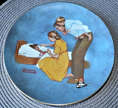 $ CDN44 • Buy Norman Rockwell American Family Series II Sweet Dreams Plate See Pictures.