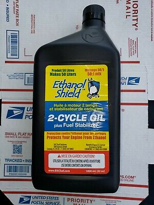 $ CDN39.48 • Buy Ethanol Shield 2 Cycle 50:1 Oil. Makes 12 Gallons. Hard To Find 32 Oz Bottles.