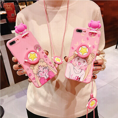 AU7.96 • Buy Hot Cute Anime Beautiful Girl Fashion Lanyard Gel Case Cover For Various Phone
