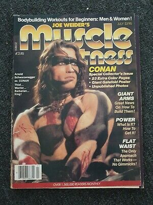 Muscle And Fitness Vintage Magazine July 1982 Arnold Schwarzenegger Conan  • 5£