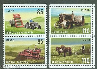AU11.20 • Buy Farm Implements 2 Se-tenant Pairs Mnh Ex-booklet 2008 Iceland #1132-3 Tractor