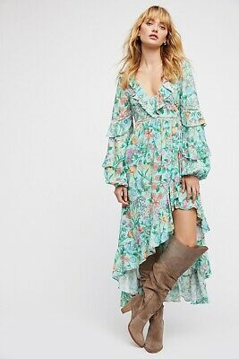 AU260.86 • Buy Free People Spell And & The Gypsy Collective Sayulita Frill Gown Dress Size S