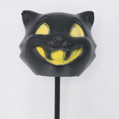 $ CDN67.49 • Buy Vintage Halloween Black Cat Blow Mold On A Stick Parade Wand Decor HTF