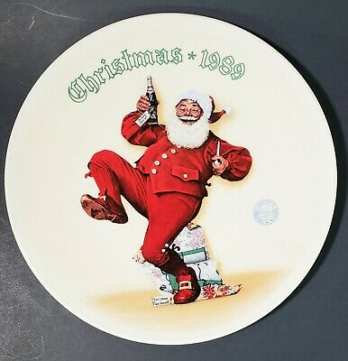 $ CDN28.32 • Buy Pepsi Santa Norman Rockwell 1989 Christmas Plate Numbered Limited Edition