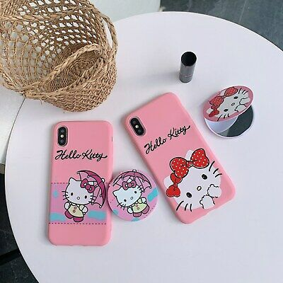 AU6.96 • Buy Cute Cartoon Cat Mirror Bracket Hot Women Girl Soft Case Cover For Various Phone