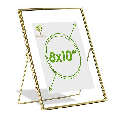 Metallic Floating Photo Frame Freestanding Table Desk Picture 8 X 10 Gold • 13.99£