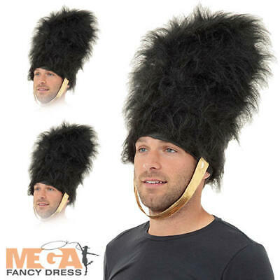 Bearskin Hat Adults Fancy Dress British Royal Busby Guard Costume Accessory Hats • 19.99£