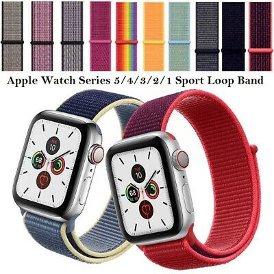 $ CDN4.37 • Buy Sport Loop Band For Apple Watch Series 6/5/4/3/2/1 Breathable Nylon IWatch Strap