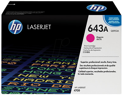 Original HP Toner Q5953A 643A Magenta For HP 4700N A-Ware • 194.20£