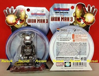 $99.99 • Buy Medicom 2013 Be@rbrick Marvel Avengers Iron Man 3 100% War Machine II Bearbrick
