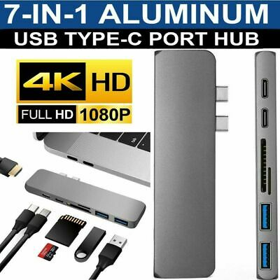 AU20.99 • Buy USB C Hub Multiport Adapter Portable Dongle With 4K HDMI Output USB 3.0 Port