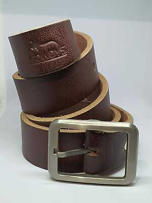 Mens 100% Genuine Cow Leather Thick Belt New Buckle Jeans Brown Tan  • 11.99£
