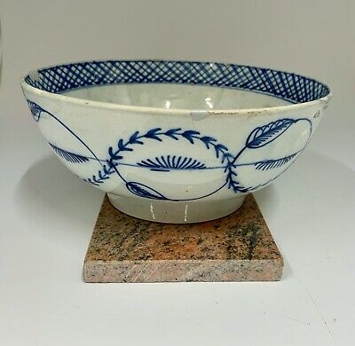 Antique Early 19 Th Century Pottery Pearlware Bowl Circa 1810 • 175£