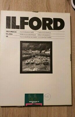 ILFORD MGIV MULTIGRADE IV FB FIBRE MGF.1K - GLOSSY - 12X16in. - 36 SHEETS • 60£