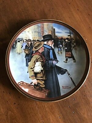 $ CDN8 • Buy Knowles Collector Plates Norman Rockwell A Helping Hand