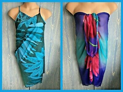 2 X Beach Cover-ups - 1 X SARESS  'Ultimate Beach Dress' AQUA - XL - 18-20  • 7.99£