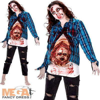 £22.49 • Buy Deluxe Pregnant Zombie Ladies Fancy Dress Womens Halloween Scary Adults Costume