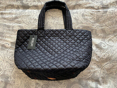 AU262.17 • Buy NWT MZ WALLACE  Black Nylon Quilted Medium Metro Tote W Removable Pouch