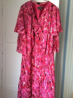 Stunning Anne Harvey Dress And Jacket. Plus Size 24 Pinks. • 10£