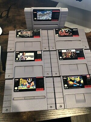 $ CDN19.11 • Buy Lot Of 7 Authentic Super Nintendo Entertainment System SNES Games Tested Working