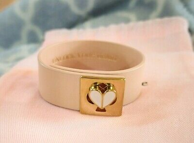 $ CDN100 • Buy Kate Spade Unlock Your Heart Bracelet Leather Twistlock Bracelet