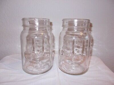 $79.99 • Buy Lot Of (2) Pottery Barn Exeter Glass Mason Jar Pendant Chandelier Replacement