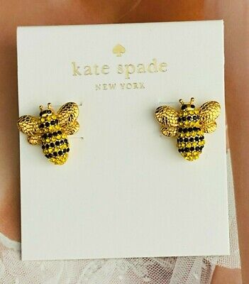 $ CDN22.55 • Buy Kate Spade New York Bee Stud Earrings Gold Tone