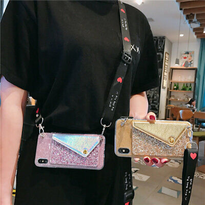 AU7.99 • Buy For OPPO Crossbody Glitter Card Wallet Hot Women Girl Fashion Phone Case Cover