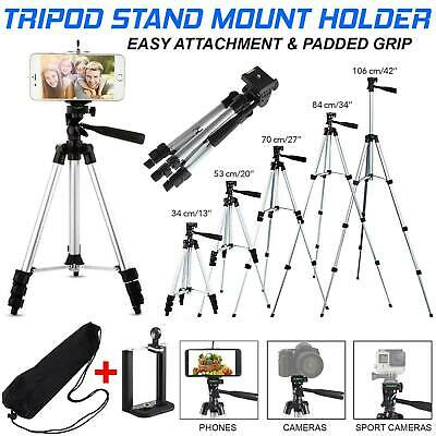 Universal Tripod Stand Telescopic Camera Phone Holder For IPhone Samsung Sony UK • 8.99£