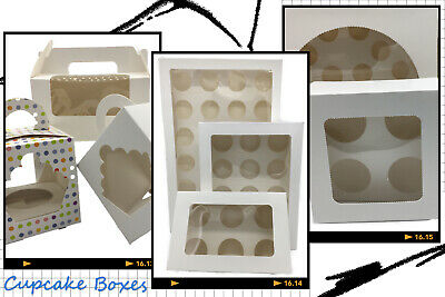 AU29.99 • Buy 1/2/4/6/12/24 Holes 5-100x Cupcake Box Window Face Cake Boxes Gift Cupcake Boxes