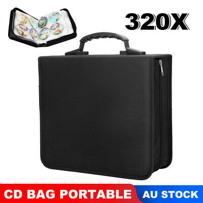 AU21.45 • Buy New 320 Discs DVD CD Case Storage Album Folder Wallet Carry Bag Organizer Holder