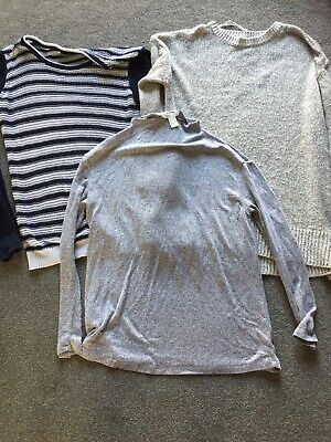 3 X Womens Maternity Size 10 Jumpers Bundle • 2.99£