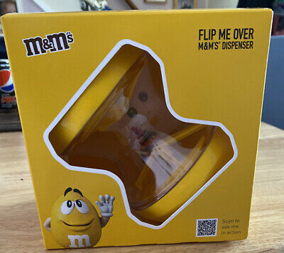 M&M's Flip Me Over Sweets Dispenser Yellow Chocolate Gift Set • 4.99£