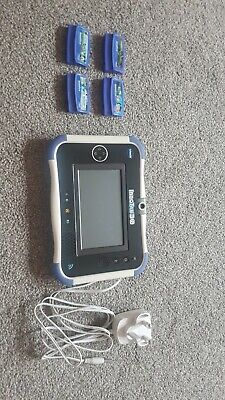 VTech InnoTab 3S With 4 Cartridges And Charger • 10£