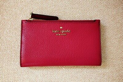 $ CDN60 • Buy Kate Spade Jackson Street Mikey Wallet Slim Cranberry Red Pink