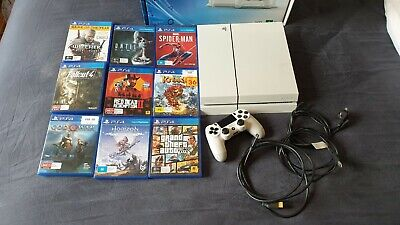 AU550 • Buy Sony Ps4 PlayStation 4 500gb Console + 8 Games + Controller - Glacier White
