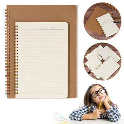 AU10.62 • Buy B5 Kraft Paper Coil Notebook 16K Workbooks Notepad Car Line Writing Pads New