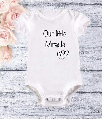 Miracle Baby Grow IVF Rainbow Baby Bodysuit Baby Vest Baby Announcement • 5.90£