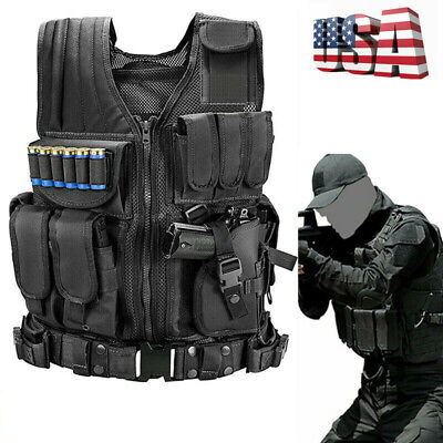 $31.99 • Buy Military Tactical Vest Breathable Army Molle Combat Hunting CS Field Training