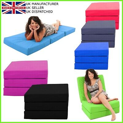 £49.99 • Buy Gilda Adult Pouffe Fold Out Futon Single Guest Z Bed Chair Mattress Sofa Bed