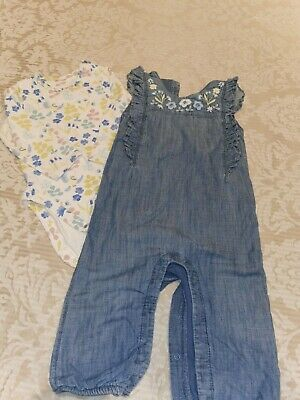 M&S Baby Girl Dungarees Set 12-18 Months • 2.50£