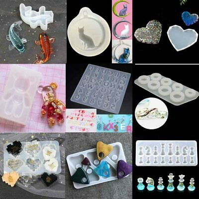 £4.99 • Buy Resin Casting Molds Silicone DIY Mold Jewelry Pendant Mould Making Craft Tool 3D