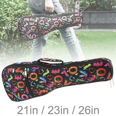 AU15.99 • Buy 21'' 23'' 26 Inches Ukulele Gig Bag Case Soft Padded For Soprano Concert Uke Uku
