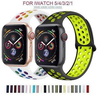 $ CDN4.99 • Buy Silicone Band For Apple Watch 6 5 4 3 2 Watchband Iwatch Sport Strap Replacement