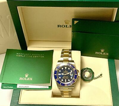 $ CDN24442.20 • Buy NEW Rolex Submariner 116613 Blue Ceramic 2020 18 Kt Gold & Steel Box,Papers,Tag