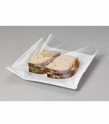 £25.99 • Buy 1000 CLEAR Film Front Paper Cellophane Food Bags White Window Sandwich Card