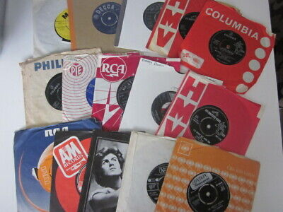 Collection Of Vinyl Records (qty 15) From 1950's, 1960's, 1970's & 1980's • 5.99£