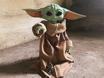 $215 • Buy Baby Yoda Life Size Poseable Puppet Figure W Accessories Star Wars Mandalorian